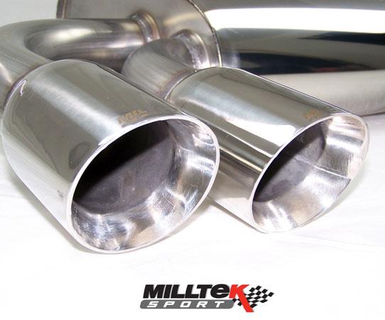 Milltek Audi S3 Exhaust 2.0T Quattro Resonated Centre Silencer Quieter MSAU289